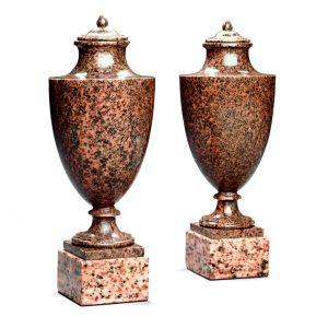 9266 Pair Russian hardstone vases (1)
