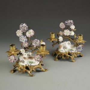 Pair of Meissen Candelabra