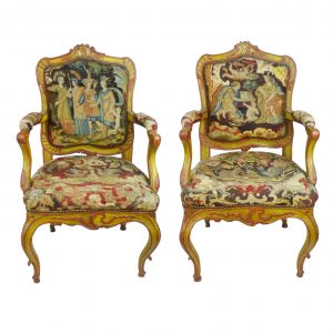 Pair of Tapestry Armchairs