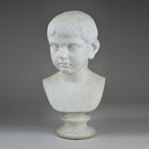 Italian Marble Bust of a Boy