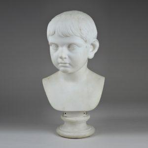 Italian Marble Bust of a Boy