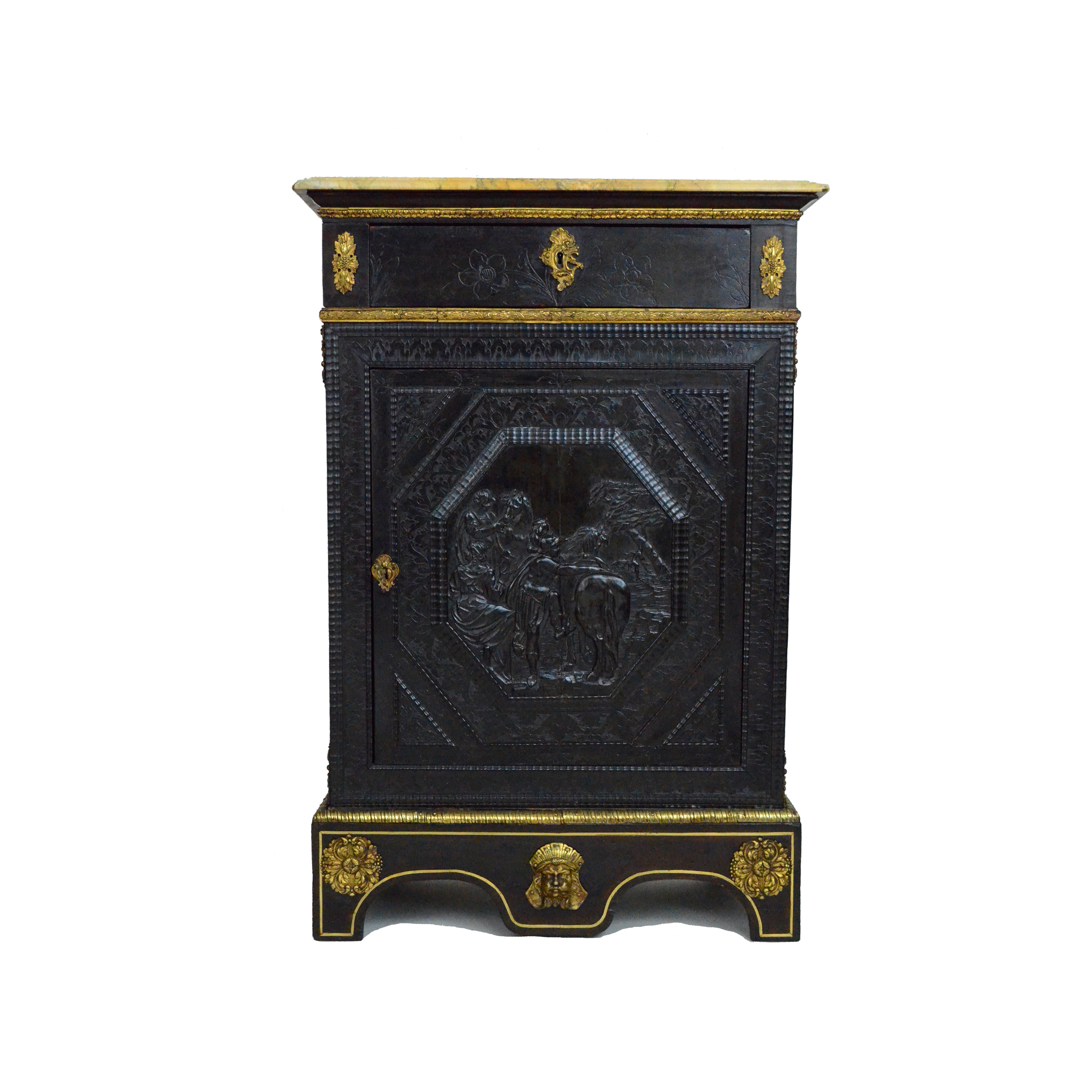 Pair Of French Ebony Cabinets