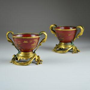 Pair of Louis XV Mounted Bowls