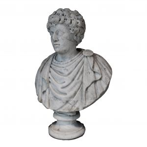Italian Marble Bust of An Emperor Transparent