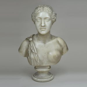 White Marble Bust of Sappho